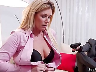 Tommy Pistol with gun threaten to his girlfriends stepmom India Summer unsystematically all round rope serfdom fucked her and girlfriend Cadence Lux with big dick