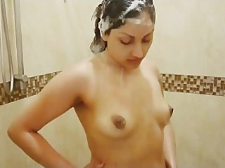 Desi bhabhi fucked by Devar in shower and gets face full be advantageous to cum