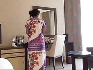 Coy Indian Bhabhi In Hotel Room With Will not hear of Newly Married Husband Honeymoon