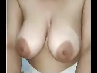 Desi Gujarati Aunty Beamy Natural Tits Indian Milf Riding a Dick